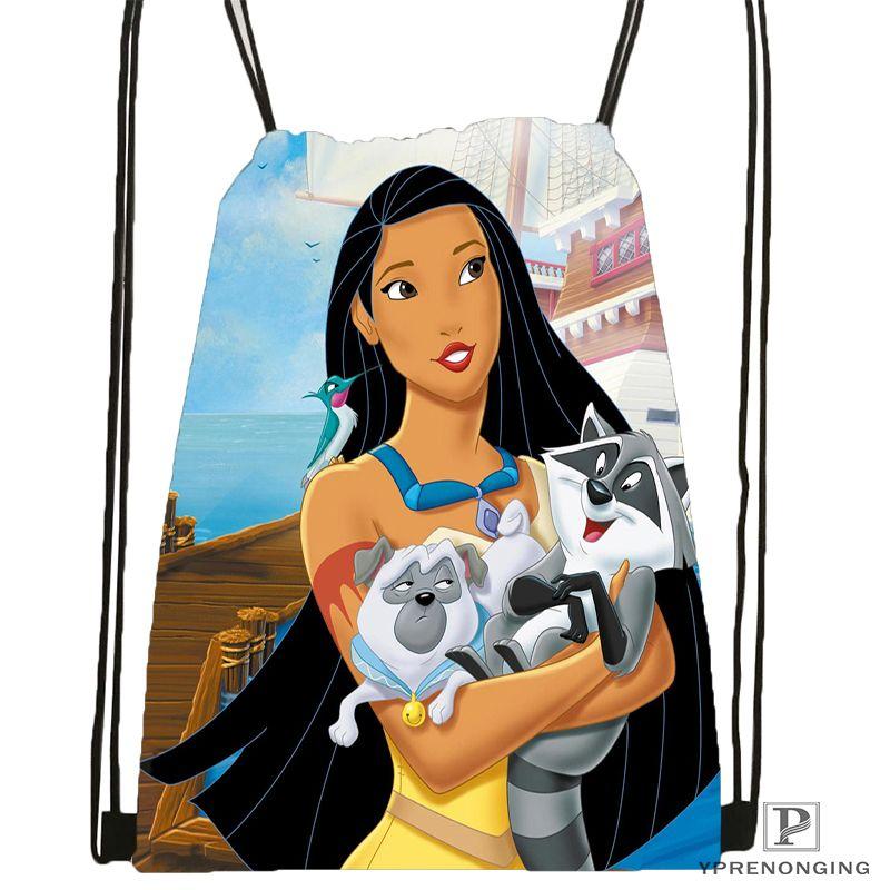 Özel Pocahontas İpli Sırt Çantası Çanta Sevimli Sırt çantası Çocuklar Satchel (Siyah Arka) 31x40cm # 180531-02-12