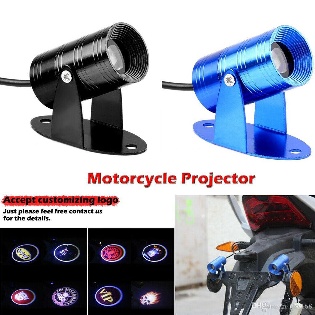 Universal 3D Motorcycle LED Laser Projector Ghost Rider Flaming Skull Logo Light