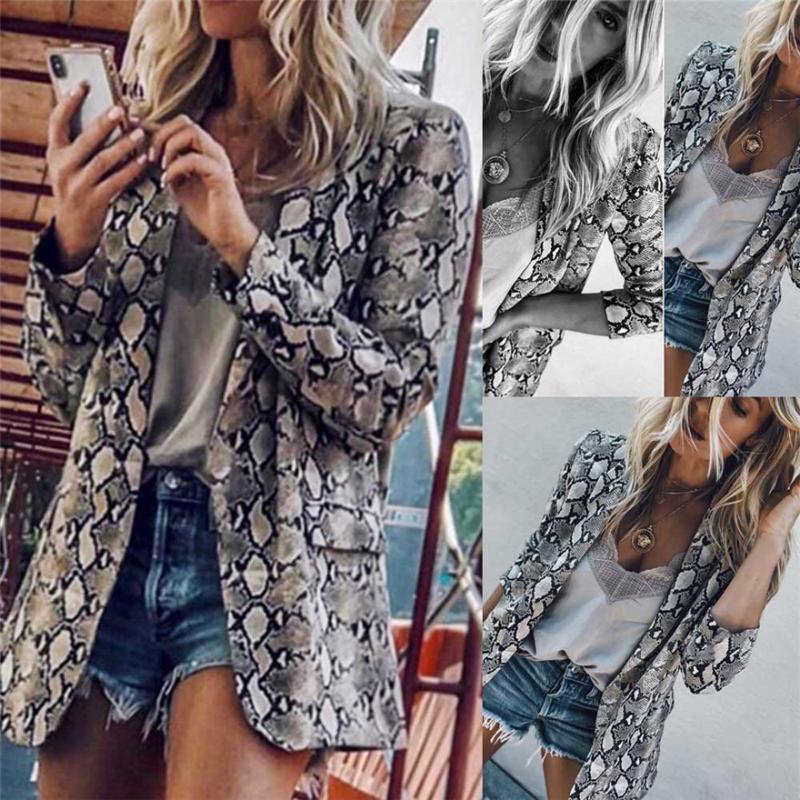 Kadınlar Vintage Yılan # 487 Yaka Uzun Kollu Kabanlar Ceketler # 1023 A kısın Coats Kadın moda yazdır