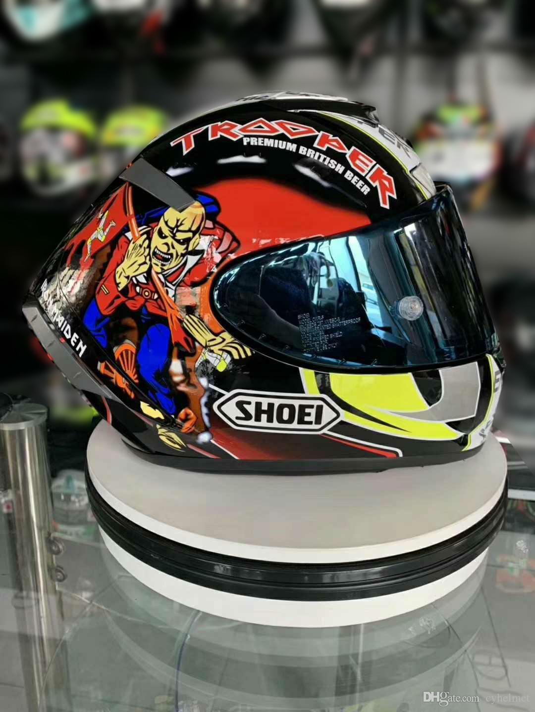 Shoei Full Face X14 93 Marquez Motegi Hikman Motorcycle Caspetto uomo equitazione Car Motocross Racing Motorbike Casco-Not-Original-Casco