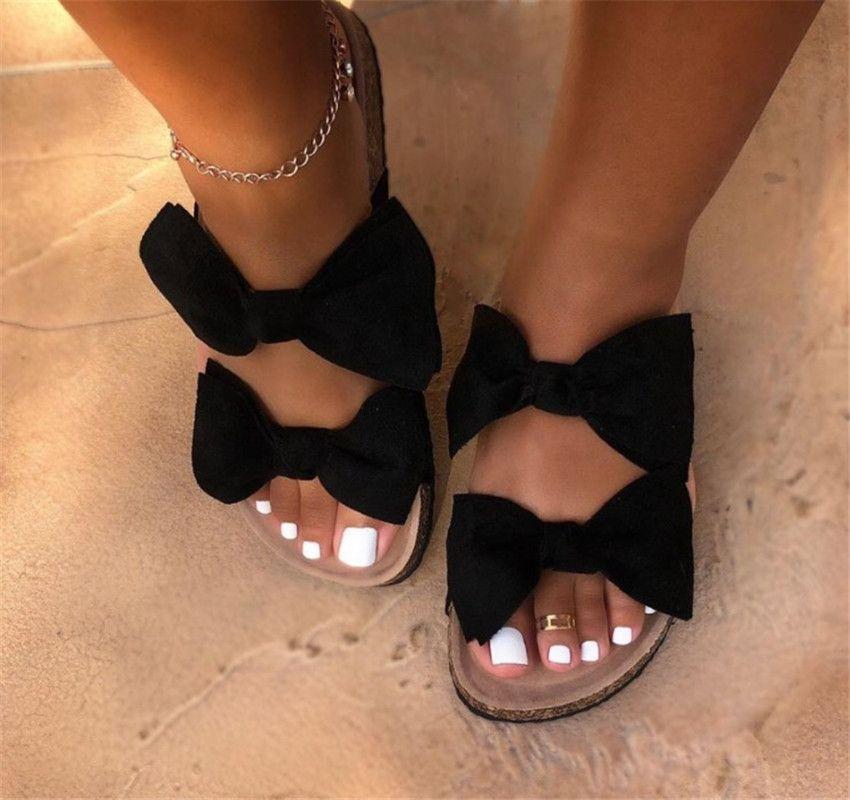 Hot Sandali estate delle donne 2020 della donna dei pattini Sandali Pantofole moda Bowknot PH-CFY20051532