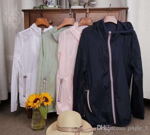 Chaqueta marca unisex del verano al aire libre de secado rápido para protegerse del sol impermeables a las mujeres protección ropa Hoodies Chaquetas