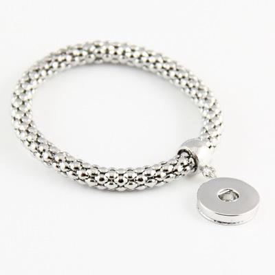 DIY Noosa Chunk 18-20mm Metallknopf-Armband DIY-Ingwer-Verschluss-Knopf Statement Schmuck-Verschluss-Knopf-Armband-Charme