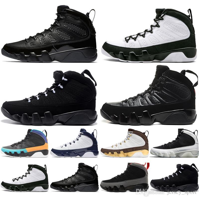 Drop Shipping 9 9s Dream It Do It UNC Mopp Melo Herren Basketballschuhe LA OG Space Jam Herren Bred 2010 Release Sport Turnschuhe Designer US 7-13