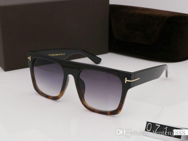 Meilleure marque de qualité Plank Lunettes de soleil pour les femmes des hommes de style occidental hommes UV400 carrés classiques noir gros lunettes de soleil cadre d'angle de G15 avec boîte