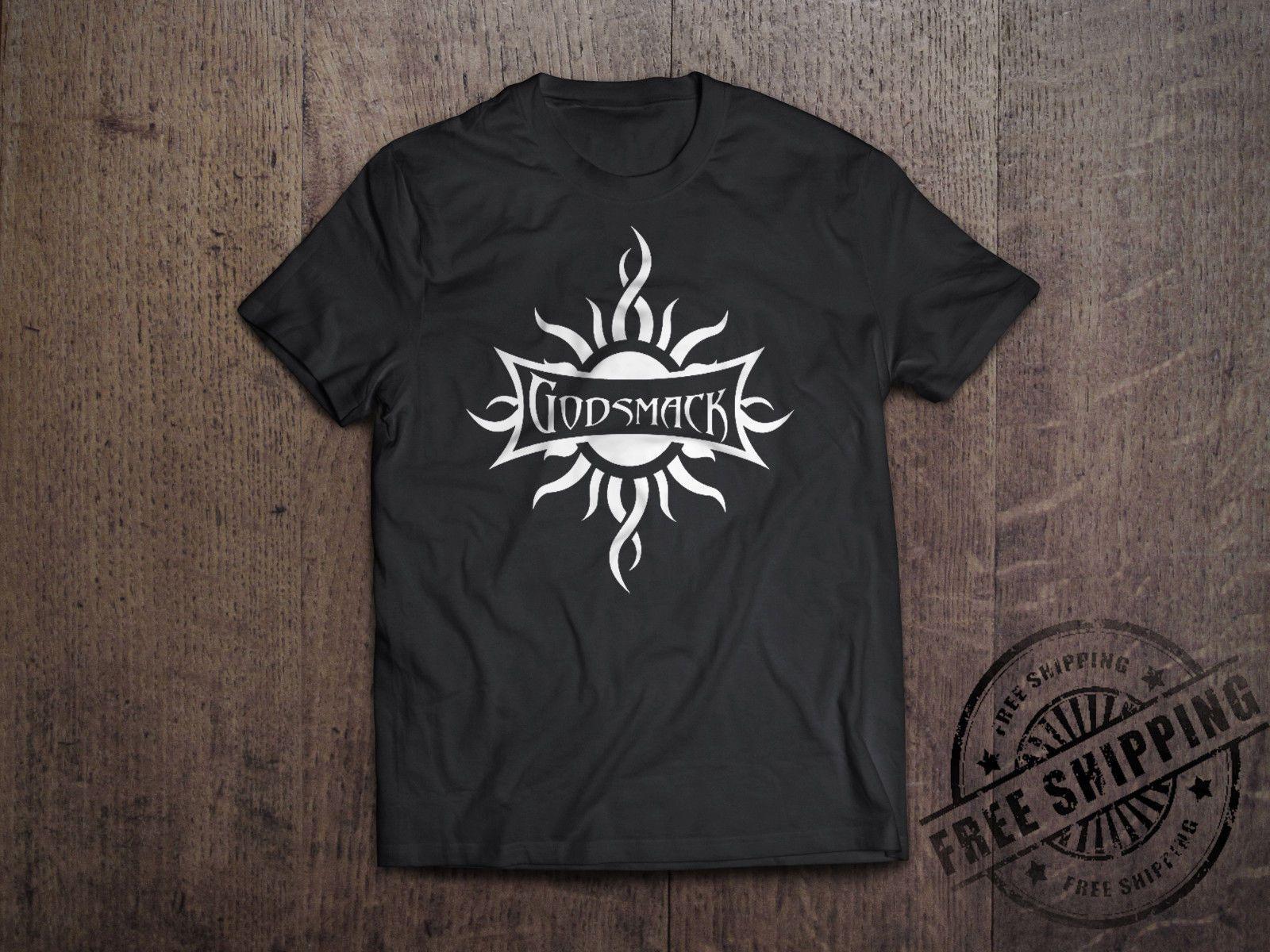 Godsmack Metal Rock Band Logo T-Shirt Men Women Unisex Grey Tee Size S-3XL