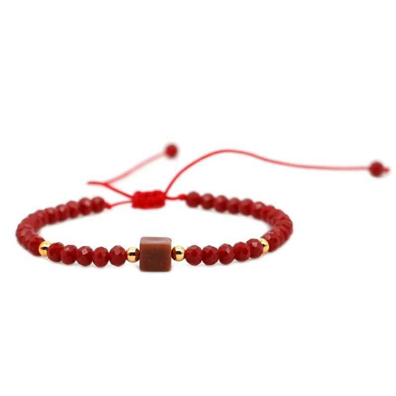 Las pulseras cristalinas de piedra natural, para las mujeres Bijoux Femme joyería hecha a mano Armbanden Brazalete Mujer