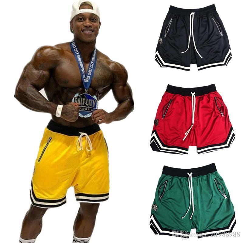 Mens Sweatpants Shorts Gym Fitness Shorts Bodybuilding Run Jogging Workout Male New Knee Length Summer Cool Breathable Mesh