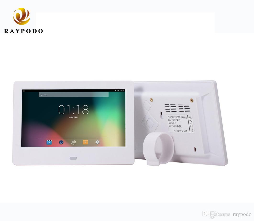 Raypodo 7-дюймовый TFT LCD цифровая фоторамка с разрешением 1024 * 600 видео Поддержки будильника и показом фото