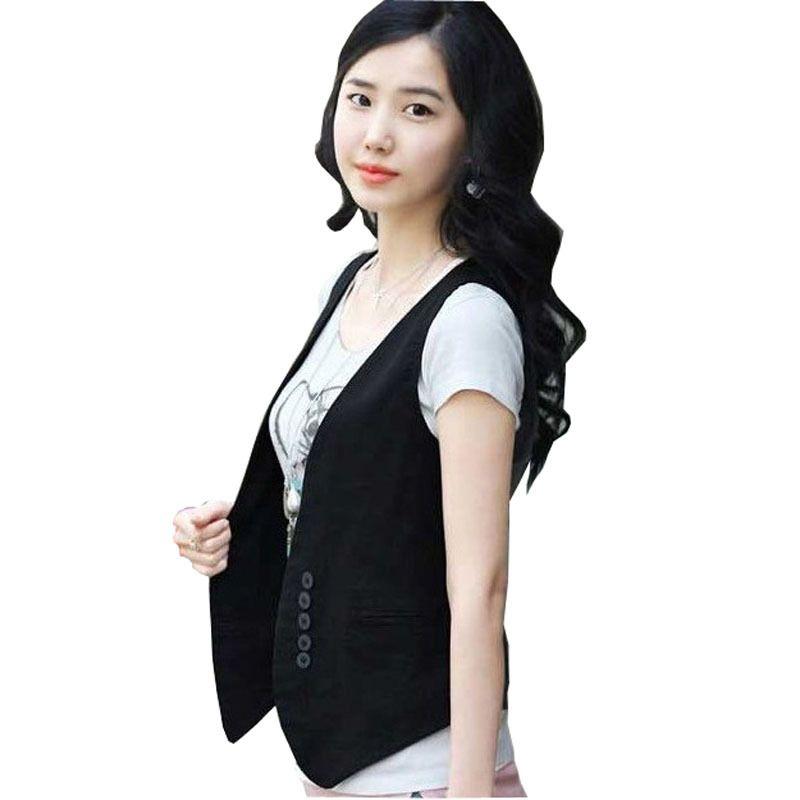 المرأة سترات المرأة قصيرة تصميم سترة الإناث السيدات معطف كل مباراة البدلة الأساسية أكمام صدرية بالجملة