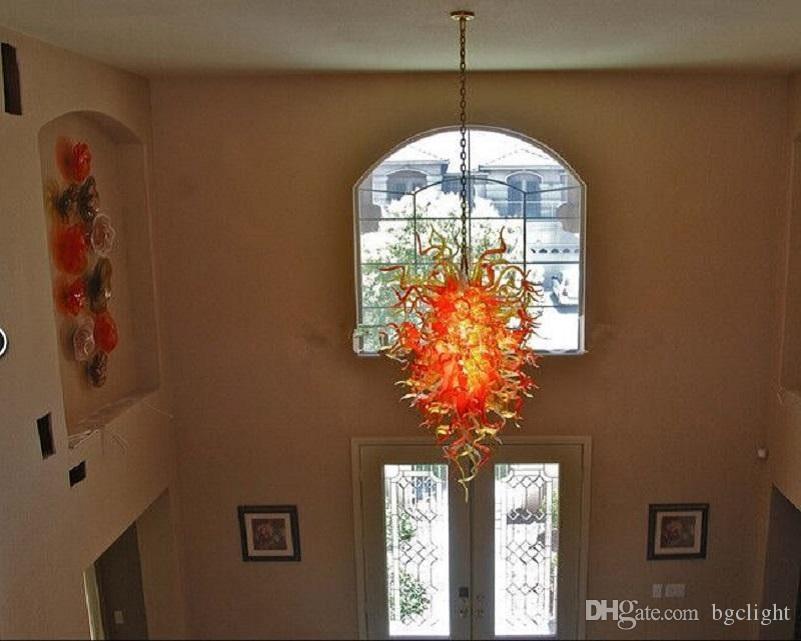 Venta de cristal de estilo europeo de iluminación de la lámpara de la turquesa único al por mayor Lámparas de luz LED de la lámpara antigua de Pequeño barato