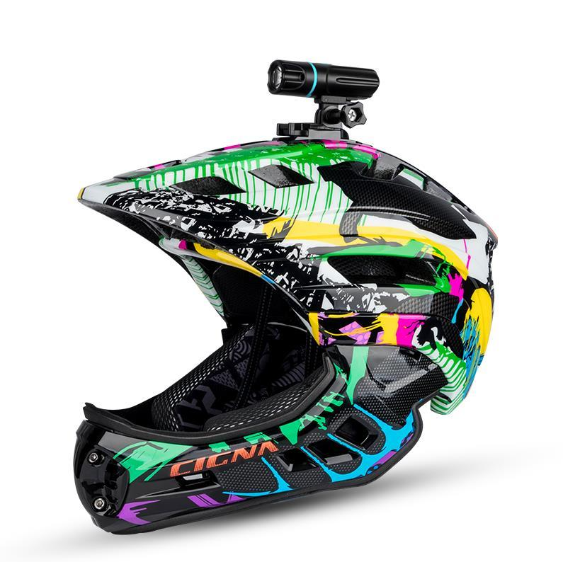 Cigna auto bilanciamento del casco, casco integrale livello di concorrenza professionale per i bambini, Built-in chiglia casco integrale, biciclette disponibili in attrezzatura della