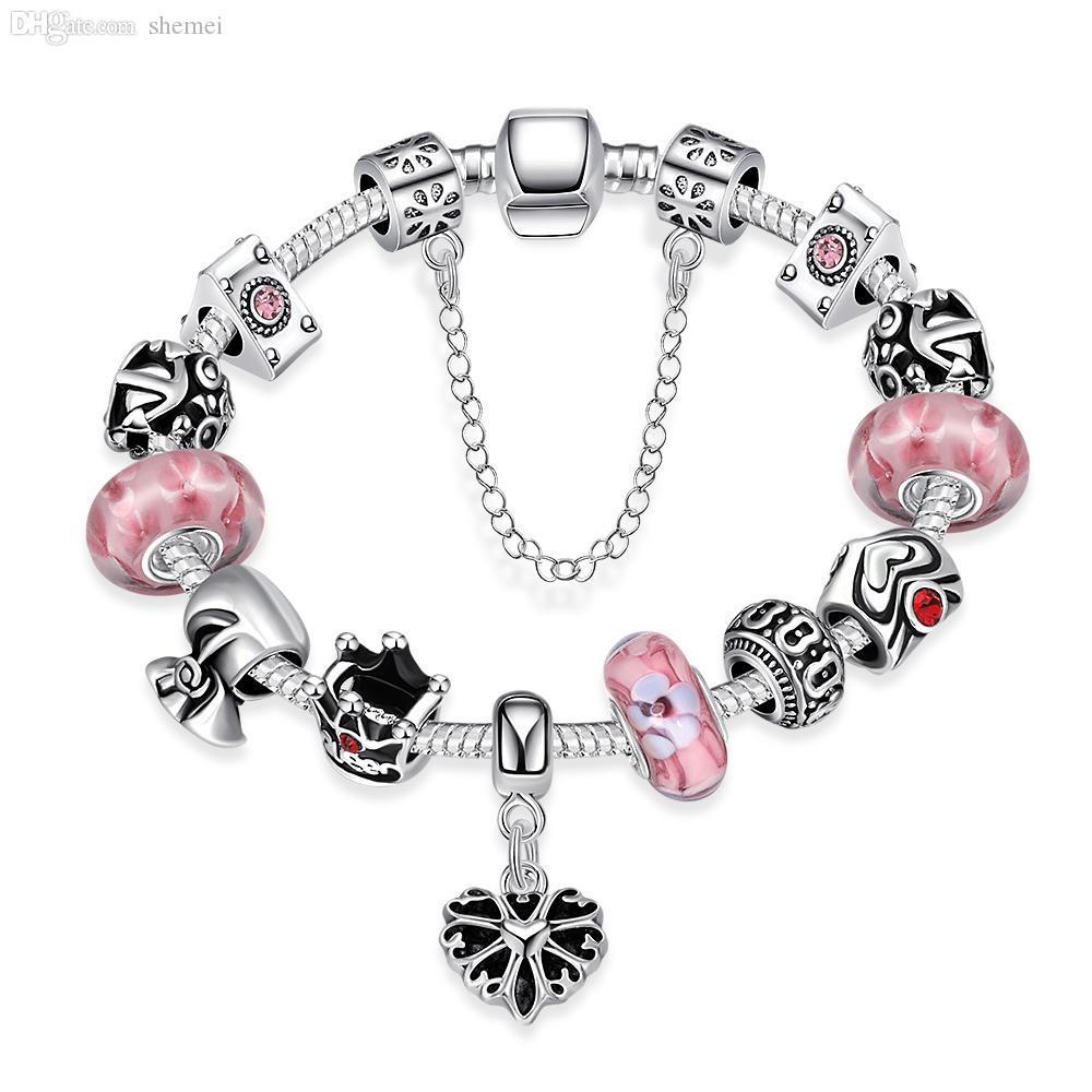 bracciali rubino fascino pietra perlina argento 925 gioielli rosa pietra naturale fai da te epoca s bracciali all'ingrosso di fascino moda