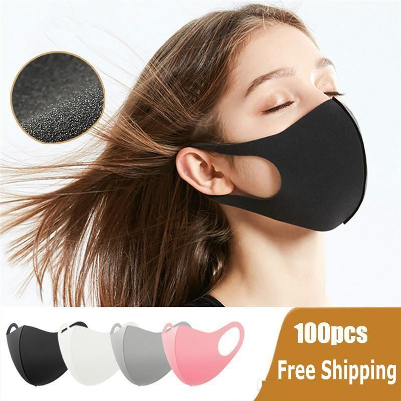 Washable Protective Face Masks Black Reusable Kids Cycling Anti Dust Mouth Cotton Mask Respirator Fashion Masks FY9041