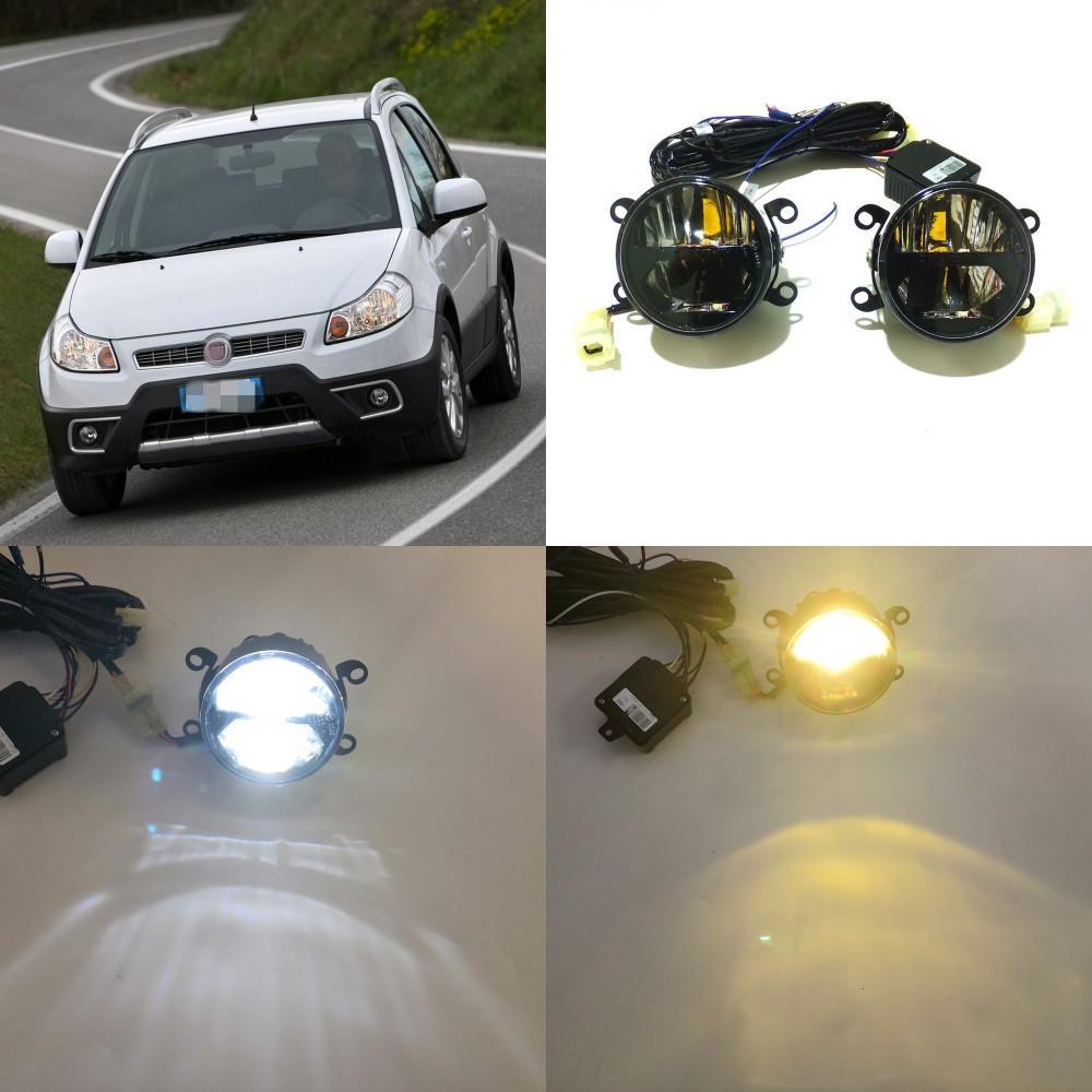 Caso Lamp julho, o rei 24W bifocais Névoa por Fiat Sedici 2006 / 06-2014 / 10, Dia 6000K Correndo Luzes + High Beam + 4300K Low Feixe