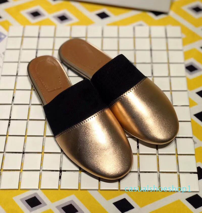 2019 Qualidade chinelos de bolso de luxo designer de verão Sapatos Venda de patinação de moda 6 color.size 35-40