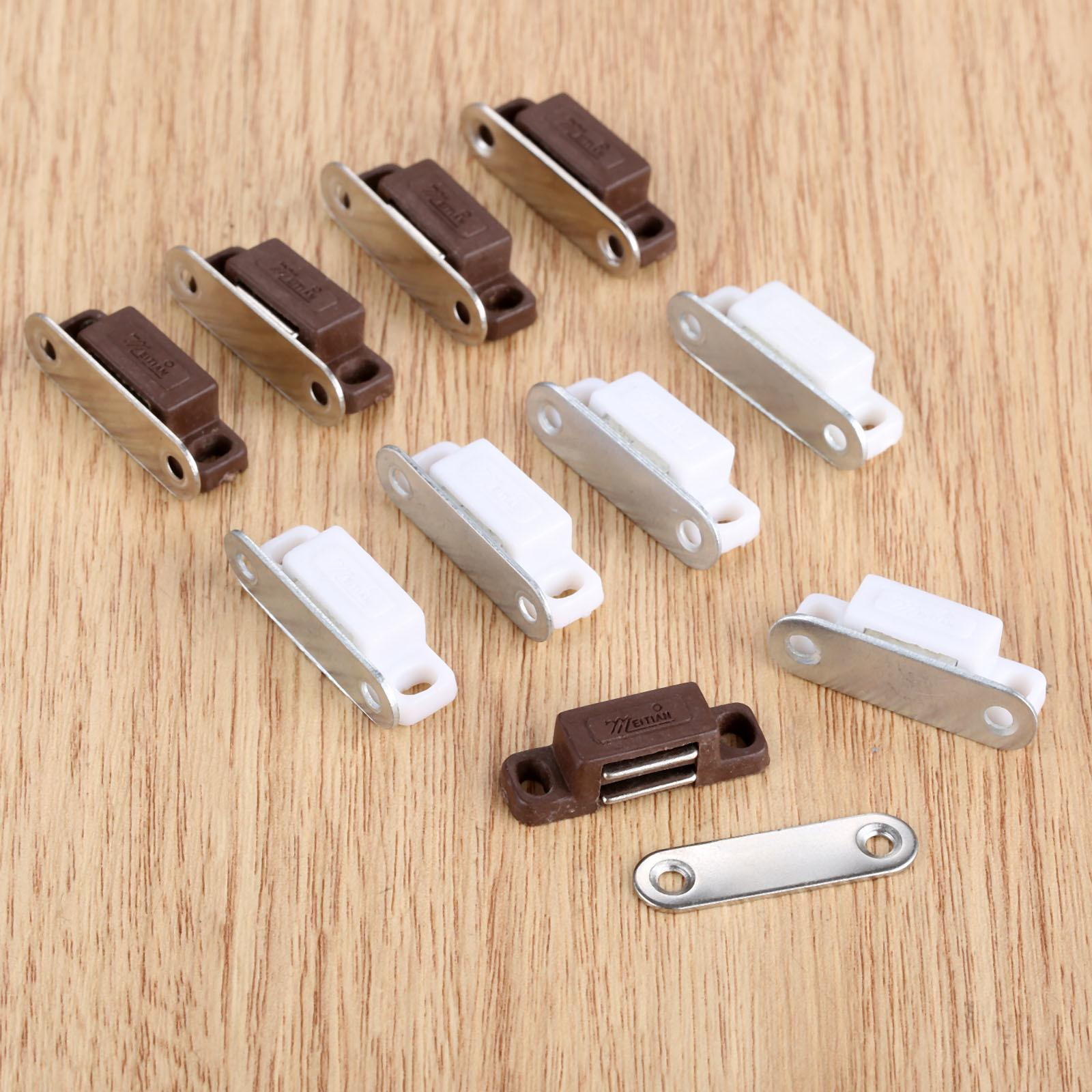 Cupboard Cabinet Closet Stainless Steel Magnetic Door Catch Stopper 5pcs