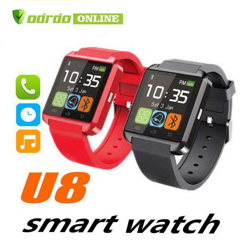 U8 Bluetooth Smartwatch U8 U Watch Smart Watch Relojes de pulsera para iPhone 4 4S 5 5S Samsung s7 HTC Android Teléfono Smartphone