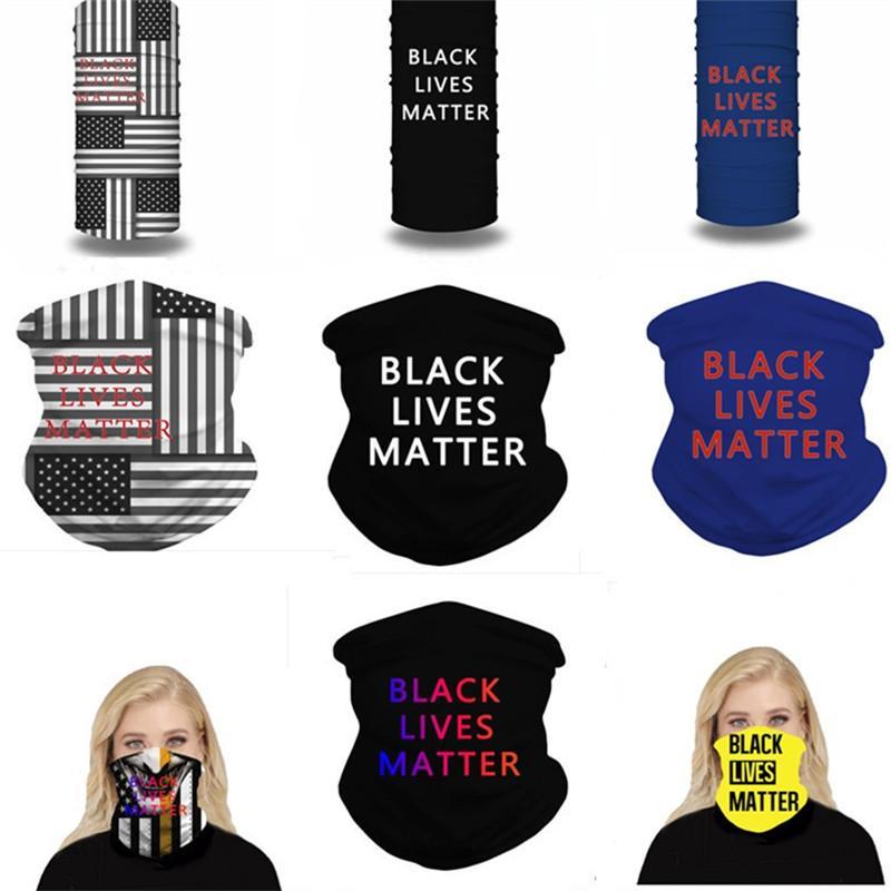 Magic Black Lives Matter Gesichtsmaske Sun-resistenter Schal Sommer Staubdichtes Gesicht Cover Outdoor Radfahren Schals Stirnband Multifunktions Bandana