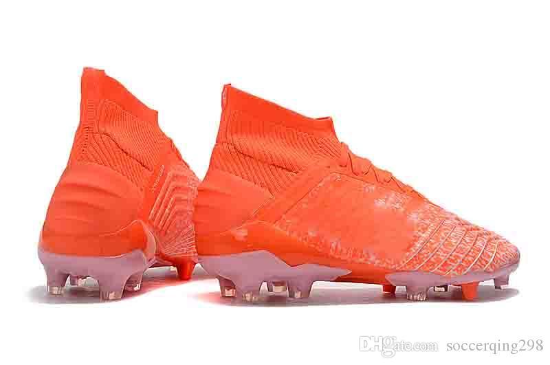 2019 Original Predator 19+ Predator 19.1 FG 25th Pogba Chaussures de soccer pour hommes, 19 + x chaussures de football pour chaussures de football