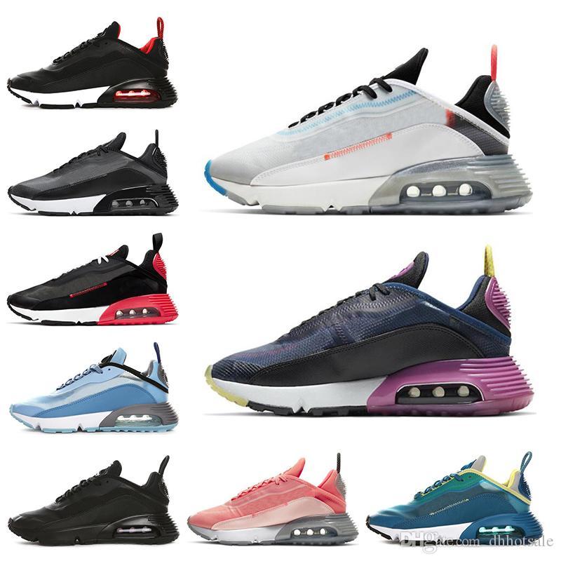 Clássico 2090 Homens Running Shoes for Women Pure Platinum Oreo criados Duck Camo mens uva preta treinador desportivo tênis de tamanho 36-45