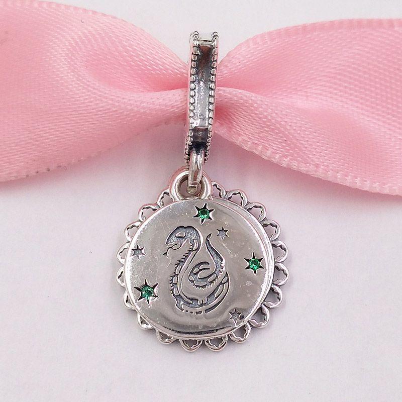 Autentico 925 Branelli in argento sterling 925 Collezione di poer di ergia Slythern Dangle Charms Charms Adatti Bracciali europei di gioielli in stile Pandora