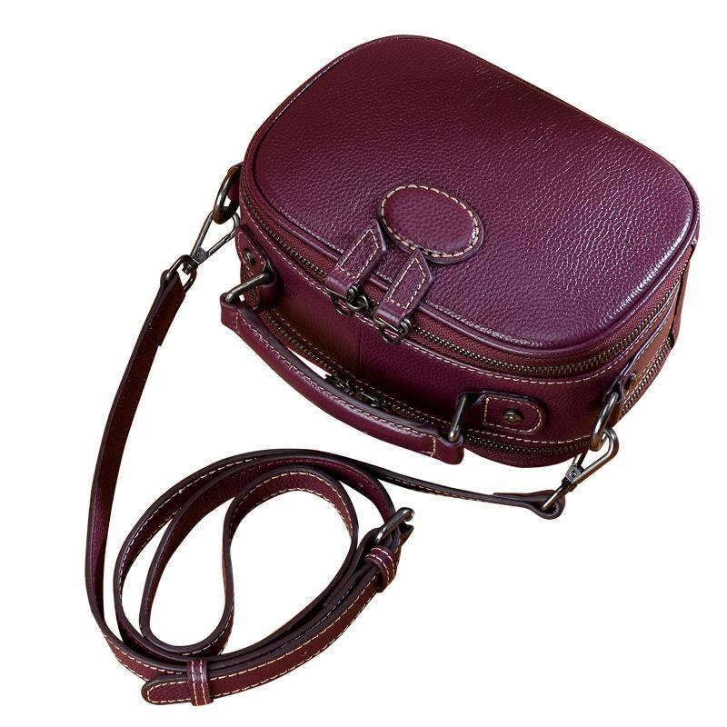 Classic sacs à bandoulière en cuir véritable femmes sac à main multi-fonction Messenger Sacs vache bandoulière en cuir de haute qualité