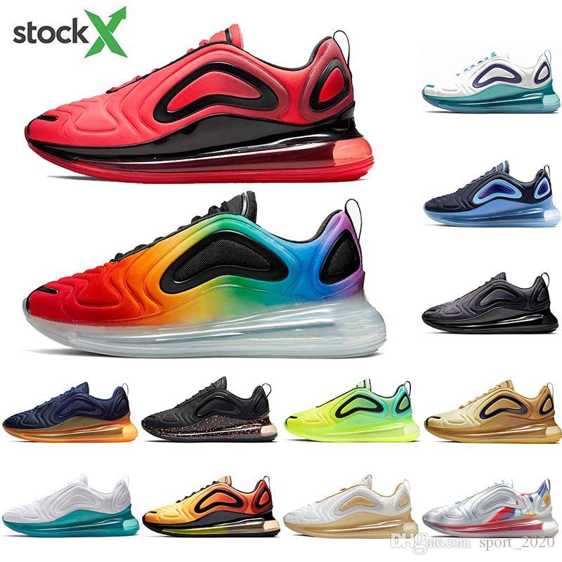 Nike air max 720 top serbest çorap Be Gerçek Gri Üniversitesi Kırmızı Medyum Toz Erkekler Kadınlar Trainer Spor Spor Ayakkabılar ile Bred yeni 2020 Koşu Ayakkabı Gurur Ormanı