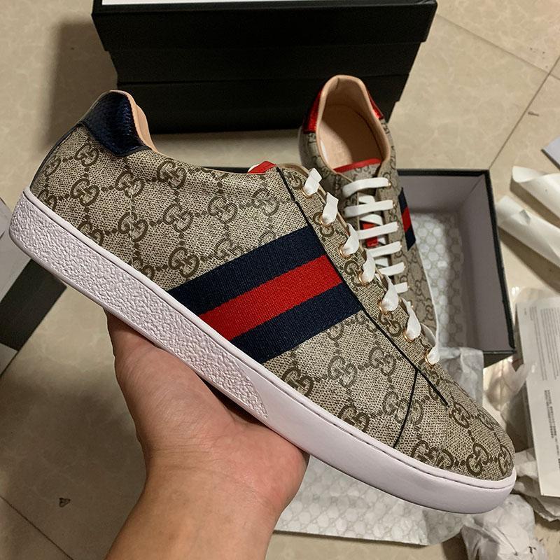 pattini del progettista y argento dal design di lusso di cuoio reale Parigi ricamato uomini scarpe scarpe casual in oro firmati scarpe da tennis per le donne
