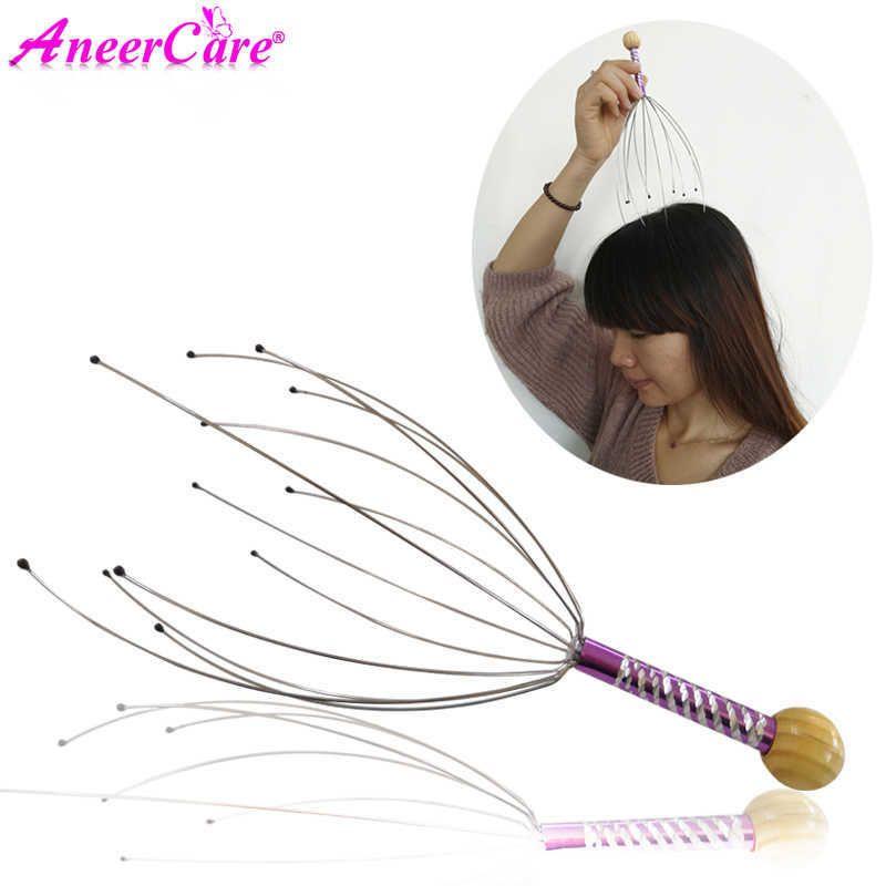 Head Massager Anti-stress Tens Pain Relief Octopus Head Scalp Neck Stress Release Relax Massage Claw Body Massager SH190729