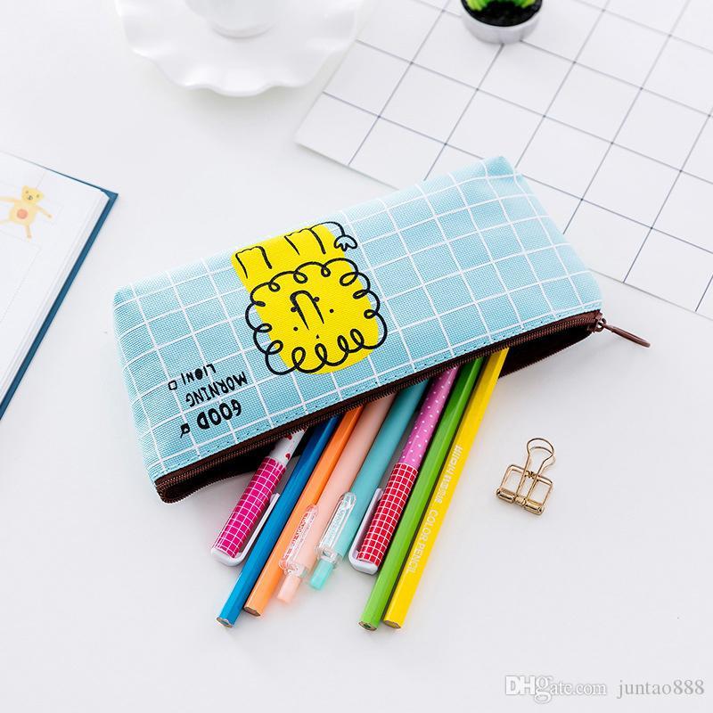 Le nouveau concepteur Mignon Creative toile Crayon cas de stockage organisateur Pen Sacs bureau poche école fournitures cadeau de Noël Livraison gratuite