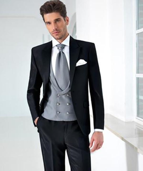 Bespoke Groom Suit Hommes pour Robe de mariée 2021 Cuisson Custom Fabriqué Black Bal Wear Haute Qualité