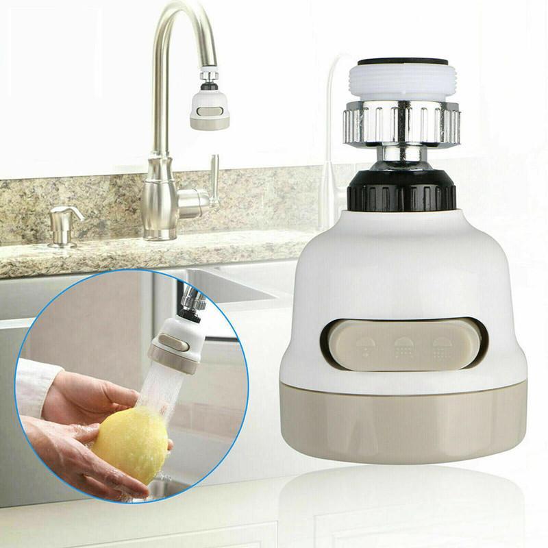Grifo Giratorio De 360 Grados Boquilla De Cabeza De Grifo De Cocina M/óvil Pulverizador Antisalpicaduras Ahorro De Agua