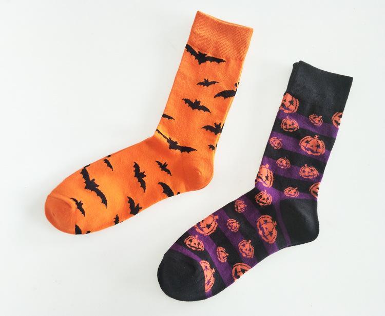 Socks Halloween Bat Pattern Stocking Tube Sport Athletic Socks