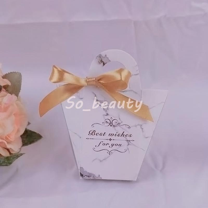 50pcs Handbag Paper Candy Boxes with Ribbon Wedding Favor Baby Shower Birthday Sweet Party Gift Box 4 Styles Big size
