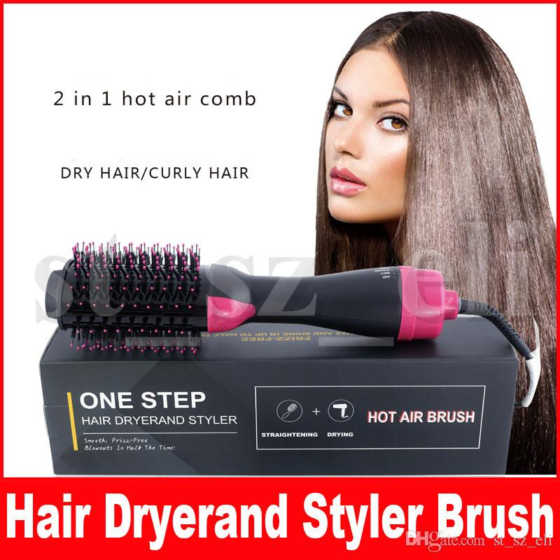 Hot Air Hair Brush One Step 2-in-1 Hair Dryer & Styler &Volumizer Multi-functional Straightening & Curly Hair Brush