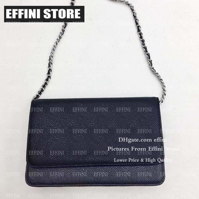 Сеть Crossbody Сумки женских сумок Кошельки EFFINI Леди из натуральной кожи Черного лоскута сумка откидной крышки сумки на ремне с коробкой