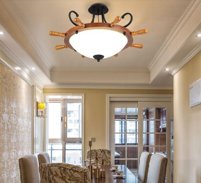 design americano luce appeso epoca ciondolo rustico lampade lusso luci retrò pendente di legno europei guidati per club bar caffetteria MYY