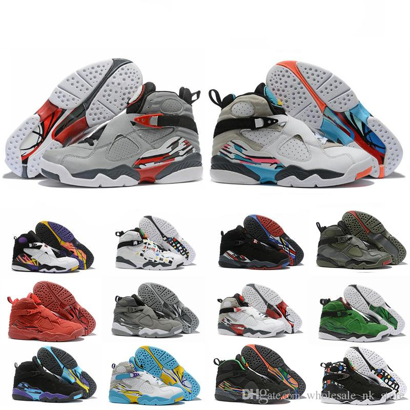 High Quality 8 Valentines Day 8s South Beach Reflective Bugs Bunny White Aqua Playoff Chrome Countdown Pack Basketball Shoes Men Sneakers