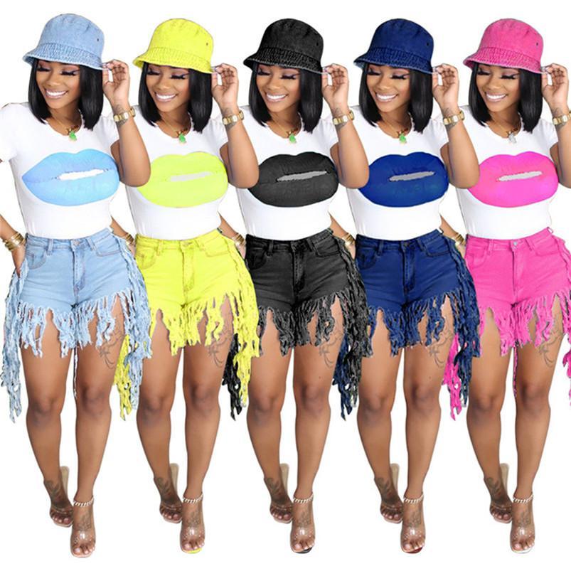 de deportes de los pantalones cortos de mezclilla para mujer trajes de 2 piezas Conjunto chándal informal camiseta + pantalones cortos sportsuit nuevos vendedores calientes de las mujeres del verano ropa klw4261