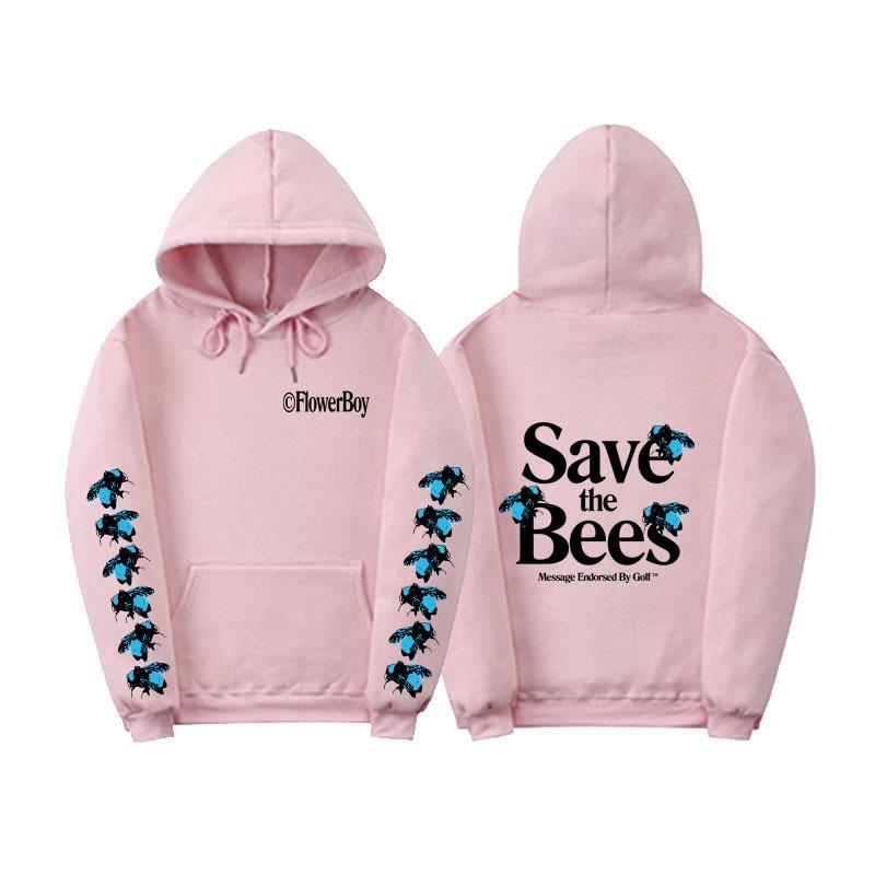 패션 -oodies 꿀벌 인쇄 스웨터 꽃 소년 까마귀 스웨터 패션 하이 스트리트 브랜드 긴 소매 남성 최고 꿀벌 후드 저장