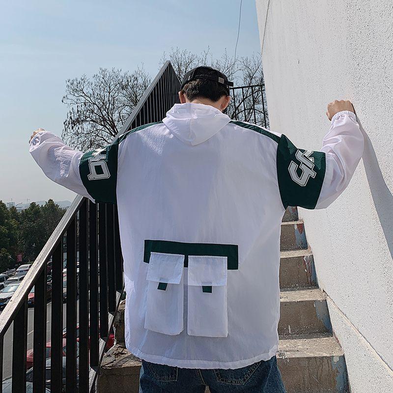 2019 neue frühling und sommer korean fashion paar männer casual einfarbig werkzeug mit kapuze sonnenschutz kleidung streetwear beste