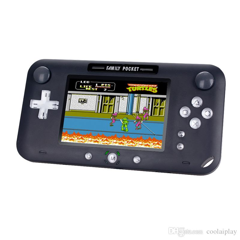 Nueva 4.0 pulgadas TFT LCD en color de la máquina portable mini juego de mano consola de juegos retro clásico 208 joysticks jugador de videojuegos mejor regalo