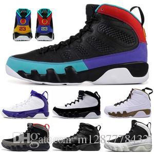 Дешево 9 антрацитов черная медная статуя барона древесного угля Джонни Килроя синие мужские баскетбольные туфли 9s IX кроссовки 7-13