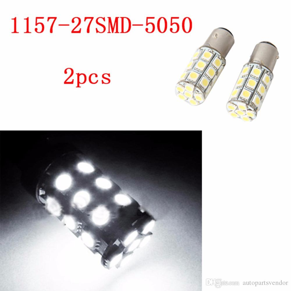 4 Pieces 1157 27SMD 5050 Branco Micro Dome Índice Car Lamp Lâmpadas LED Wedge White Light Farol DC12V