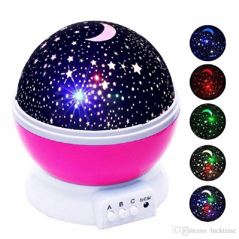Wholesale kid Night Light Novelty Luminous Toys Romantic Starry Sky LED Projector Rotating Master Magic childre Lamp Xmas gift with package