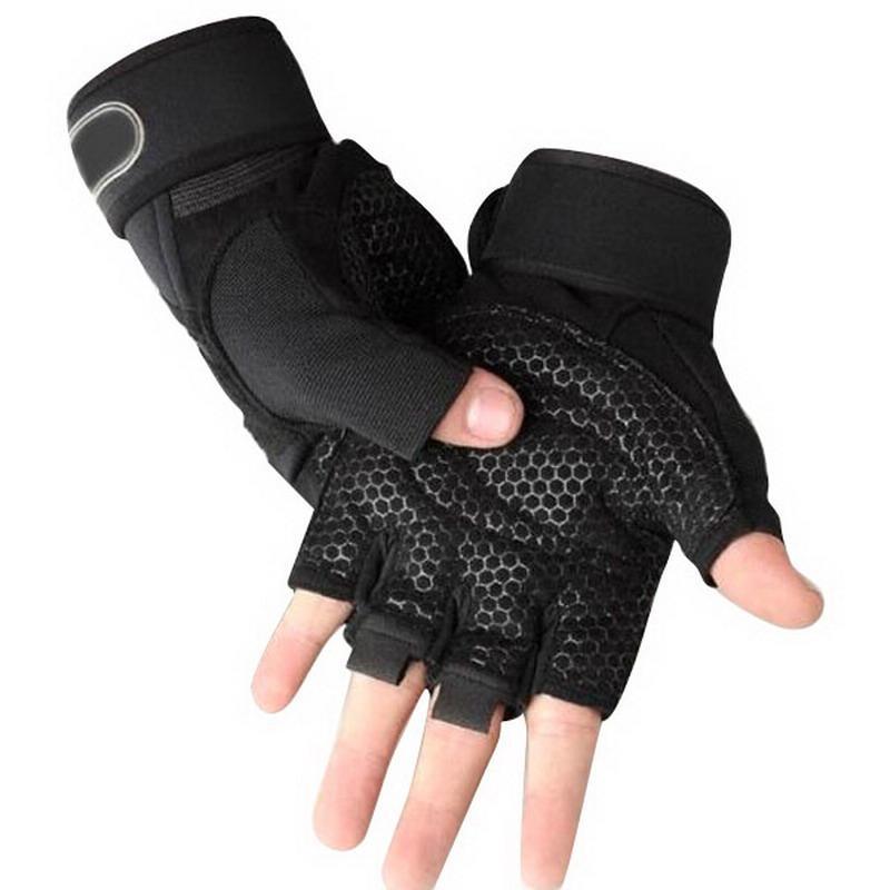 Hot Half Finger Fitness Gants Poids Gants de levage Protect poignet MUSCULAIRE Fingerless Haltérophilie Sport Hommes Femmes Gants