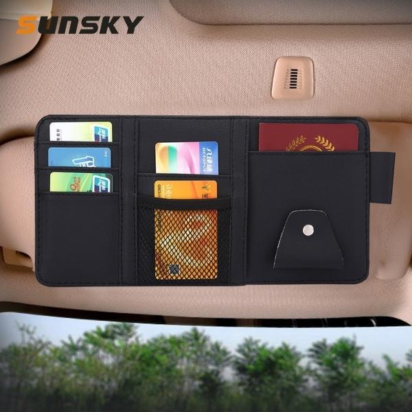 Автомобильные CD коробка карточки Универсальный автомобильный солнцезащитный козырек картонов Tissue Box CD Case для хранения карты держатель сумка Организатор