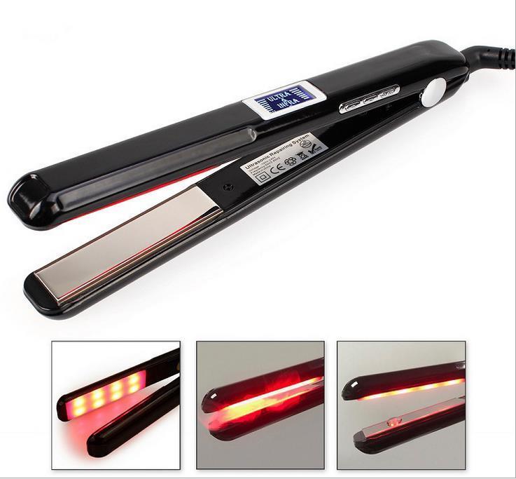 الحديد المسطح بالموجات فوق الصوتية الأشعة تحت الحمراء الأشعة تحت الحمراء العناية بالشعر الحديد علاج الشعر الحديد إعادة معالجة تعافي التالفة