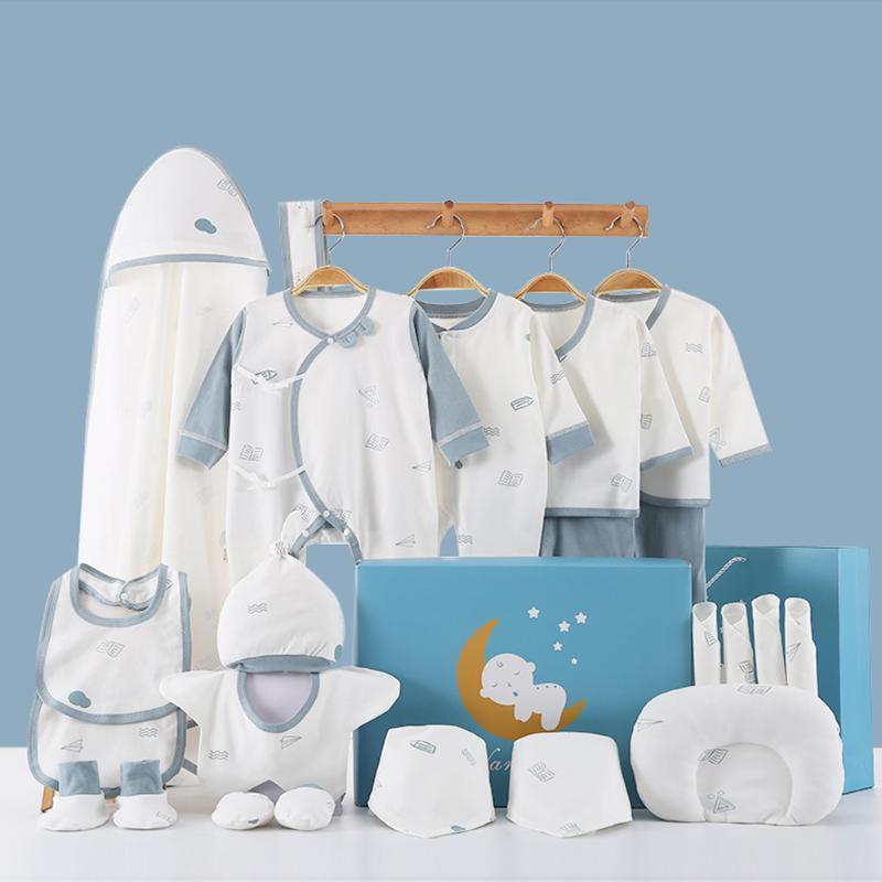 Vêtements pour bébé printemps et l'automne pur coton bébé nouveau-né Set primaire pour Gift Box est le premier mois Fournitures Encyclopédie Coffret